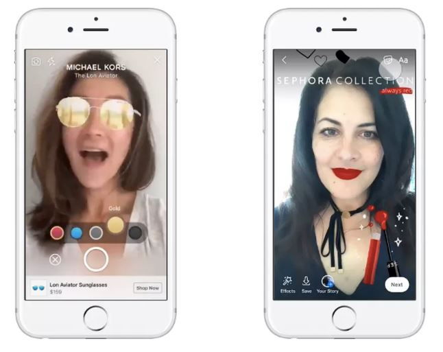 Facebook lets you 'try on' clothes and makeup with AR ads