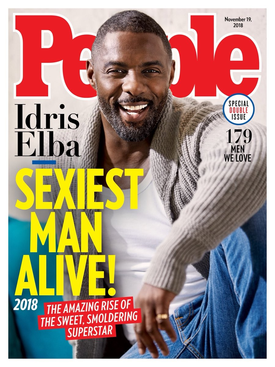 IDRIS ELBA IS PEOPLE'S MAGAZINE SEXIEST MAN ALIVE 2018